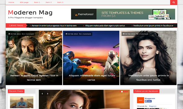 Top 10 Free Hand-picked Responsive Blogger Latest Templates