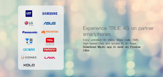 Reliance Jio Extended it's Support for 10 Smartphone Brands with Free Preview Offer