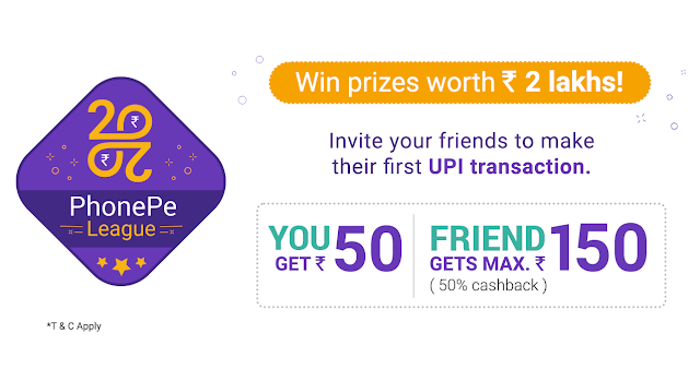 How to Earn Rs.150 Cashback and More using PhonePe Referral Program