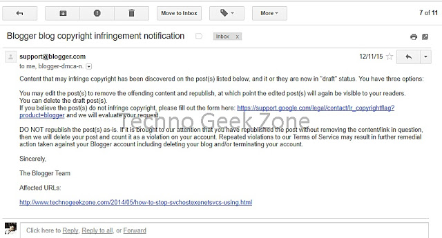 Past Copyright Infringement Case Between DMCA and Techno Geek Zone