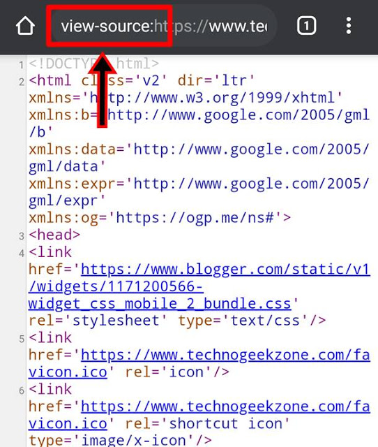Source Code of Any Web Page in Android Mobiles