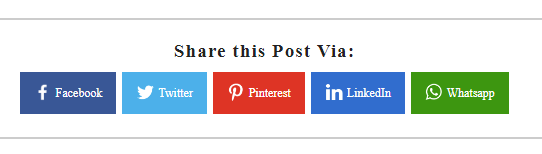 [Updated] Add Custom Social Share Buttons with WhatsApp Sharing in Blogger Blogs